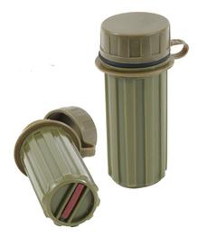Vattentät tändsticksbehållare